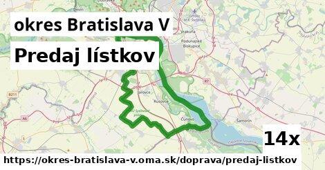 ilustračný obrázok k Predaj lístkov, okres Bratislava V