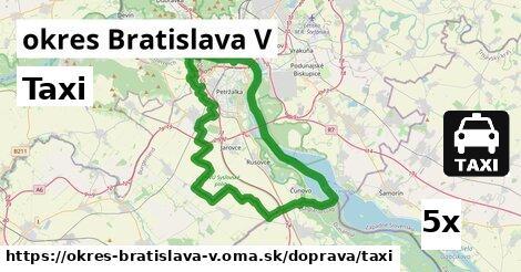 ilustračný obrázok k Taxi, okres Bratislava V