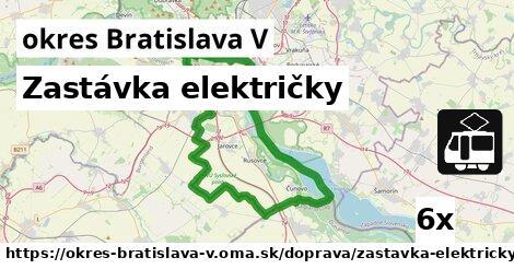 ilustračný obrázok k Zastávka električky, okres Bratislava V