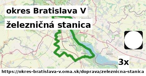 ilustračný obrázok k železničná stanica, okres Bratislava V