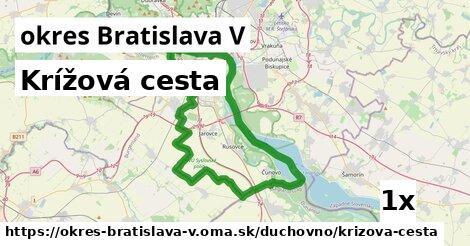 ilustračný obrázok k Krížová cesta, okres Bratislava V