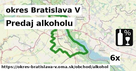 ilustračný obrázok k Predaj alkoholu, okres Bratislava V