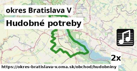 ilustračný obrázok k Hudobné potreby, okres Bratislava V