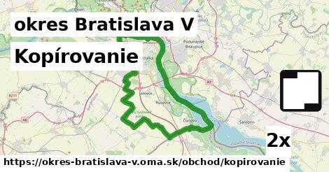 ilustračný obrázok k Kopírovanie, okres Bratislava V