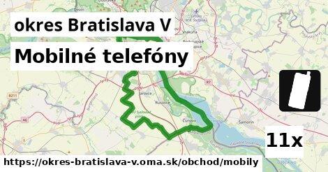 ilustračný obrázok k Mobilné telefóny, okres Bratislava V