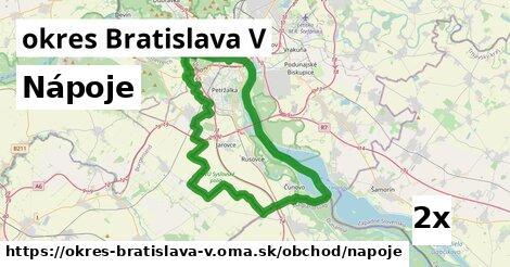 ilustračný obrázok k Nápoje, okres Bratislava V