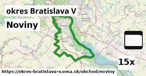 noviny v okres Bratislava V