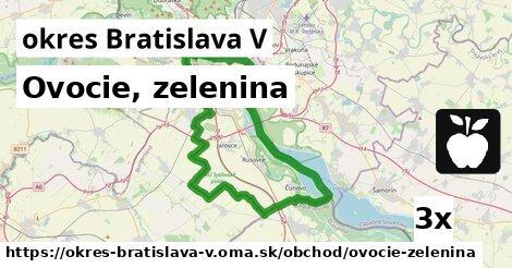 ilustračný obrázok k Ovocie, zelenina, okres Bratislava V