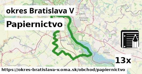 ilustračný obrázok k Papiernictvo, okres Bratislava V