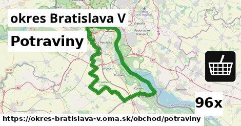 ilustračný obrázok k Potraviny, okres Bratislava V
