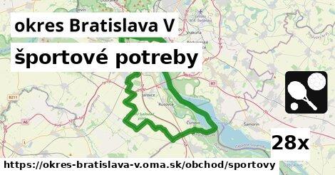 športové potreby v okres Bratislava V