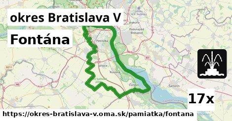 ilustračný obrázok k Fontána, okres Bratislava V