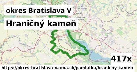 hraničný kameň v okres Bratislava V