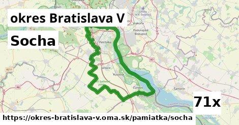 socha v okres Bratislava V