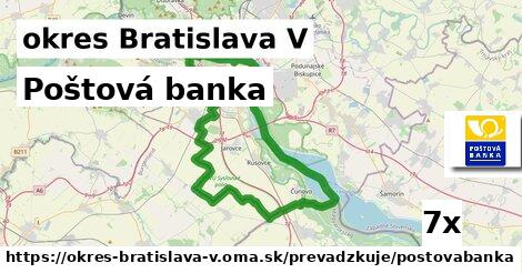 ilustračný obrázok k Poštová banka, okres Bratislava V