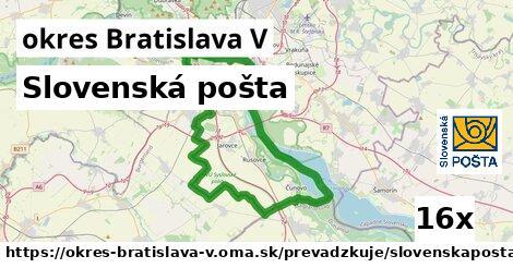 ilustračný obrázok k Slovenská pošta, okres Bratislava V