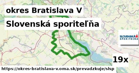ilustračný obrázok k Slovenská sporiteľňa, okres Bratislava V
