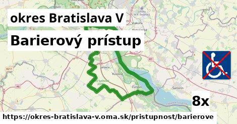 ilustračný obrázok k Barierový prístup, okres Bratislava V