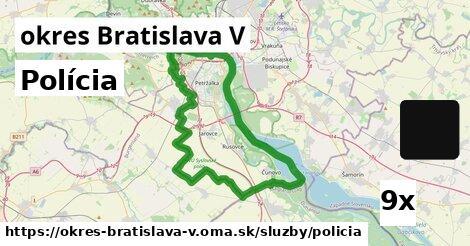 ilustračný obrázok k Polícia, okres Bratislava V