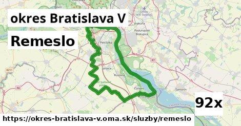 ilustračný obrázok k Remeslo, okres Bratislava V