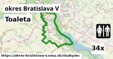 ilustračný obrázok k Toaleta, okres Bratislava V