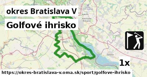 golfové ihrisko v okres Bratislava V