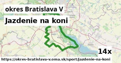 ilustračný obrázok k Jazdenie na koni, okres Bratislava V