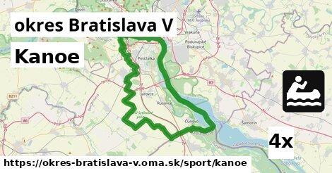 kanoe v okres Bratislava V