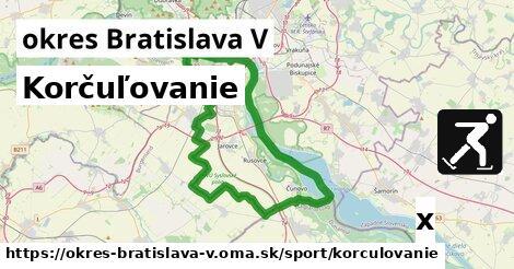 korčuľovanie v okres Bratislava V