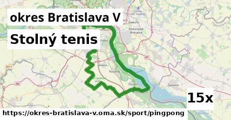 ilustračný obrázok k Stolný tenis, okres Bratislava V