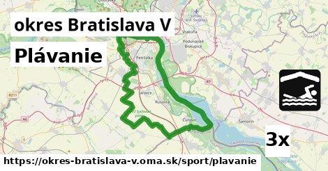 ilustračný obrázok k Plávanie, okres Bratislava V