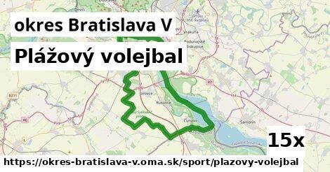 plážový volejbal v okres Bratislava V