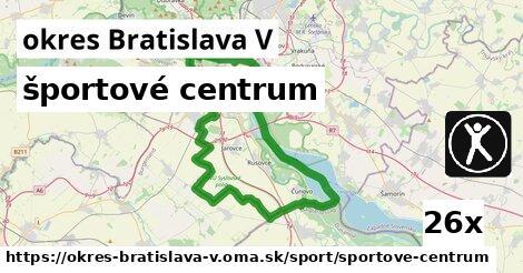 ilustračný obrázok k športové centrum, okres Bratislava V