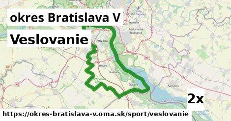 ilustračný obrázok k Veslovanie, okres Bratislava V
