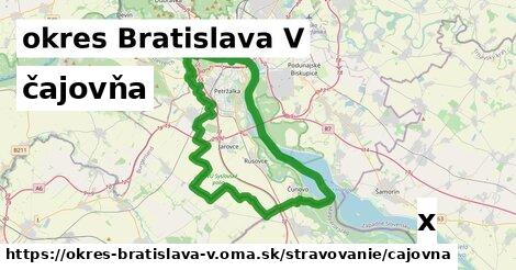 ilustračný obrázok k čajovňa, okres Bratislava V