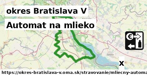 ilustračný obrázok k Automat na mlieko, okres Bratislava V