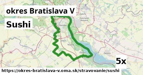 ilustračný obrázok k Sushi, okres Bratislava V