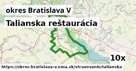 ilustračný obrázok k Talianska reštaurácia, okres Bratislava V