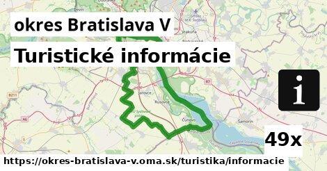 ilustračný obrázok k Turistické informácie, okres Bratislava V