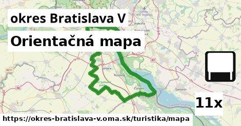 ilustračný obrázok k Orientačná mapa, okres Bratislava V