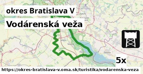 vodárenská veža v okres Bratislava V