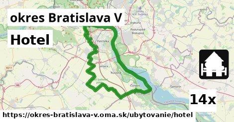 ilustračný obrázok k Hotel, okres Bratislava V