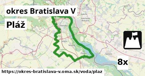 ilustračný obrázok k Pláž, okres Bratislava V