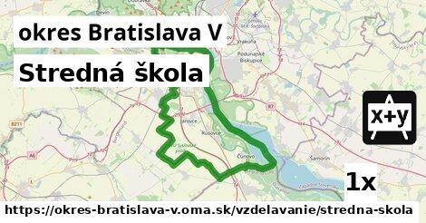 ilustračný obrázok k Stredná škola, okres Bratislava V