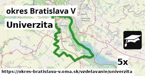 ilustračný obrázok k Univerzita, okres Bratislava V