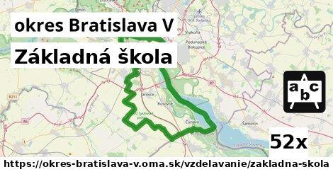 ilustračný obrázok k Základná škola, okres Bratislava V