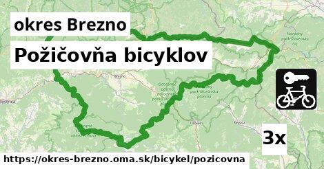 Požičovňa bicyklov, okres Brezno