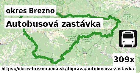 Autobusová zastávka, okres Brezno