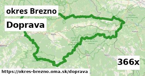doprava v okres Brezno