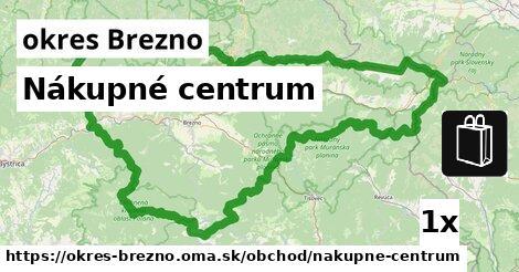 Nákupné centrum, okres Brezno